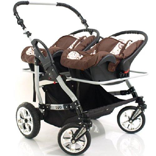 adbor zwillingskinderwagen duo mit babyschale test. Black Bedroom Furniture Sets. Home Design Ideas