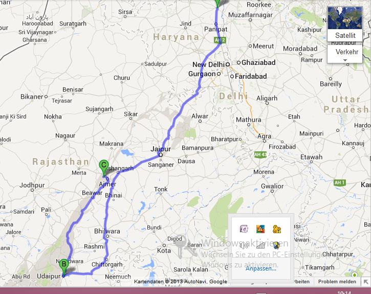 Zwillingsratgeber ersteroute Erste Tour nach Udaipur und Pushkar